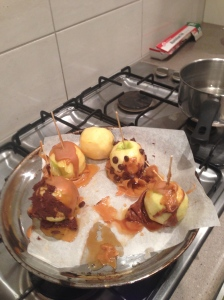 Do NOT skin carmel apples.
